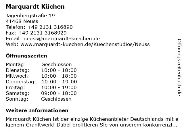 ᐅ Offnungszeiten Marquardt Kuchen Jagenbergstrasse 19 In Neuss