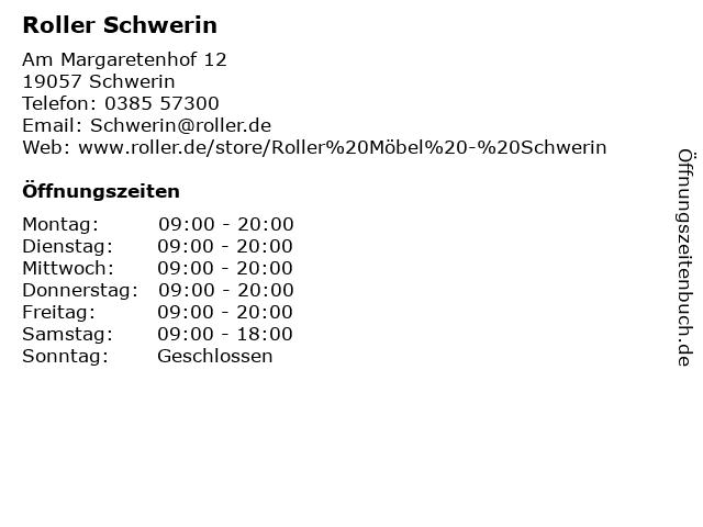 ᐅ Offnungszeiten Roller Schwerin Am Margaretenhof 12 In Schwerin