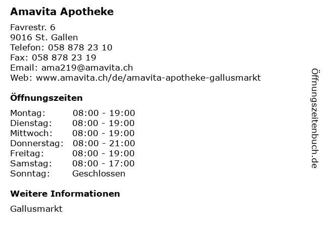 Amavita St Gallen Gallusmarkt Angebote Und Offnungszeiten