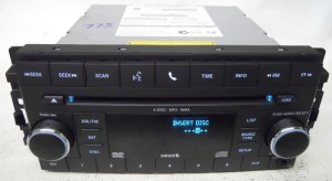 Dodge Nitro 2008 2009 Factory Stereo 6 Disc CD DVD Player