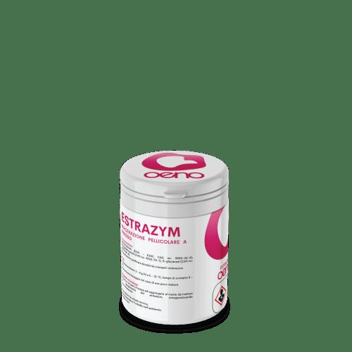 Estrazym - enzima per la macerazione pellicolare a freddo (criomacerazione), l'aggiunta facilita l'estrazione dei precursori aromatici varietali.