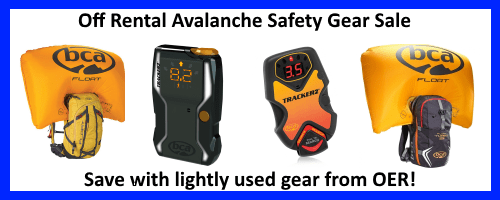 Off rental avalanche gear sale