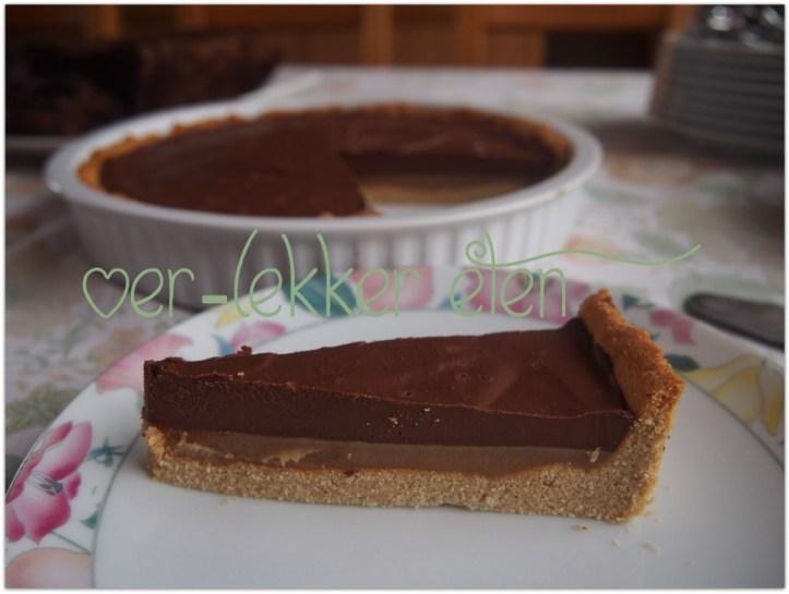 Kastanje-ganache taart met fleur de sel