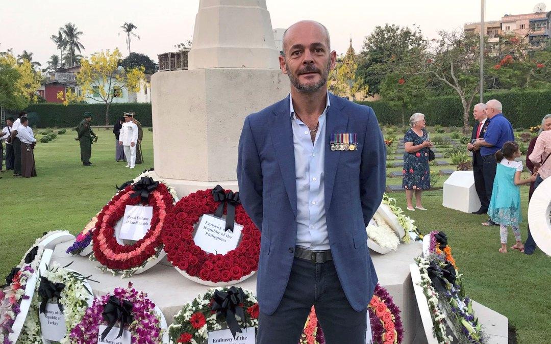 ANZAC Day memorial at Rangoon War Cemetery in Myanmar