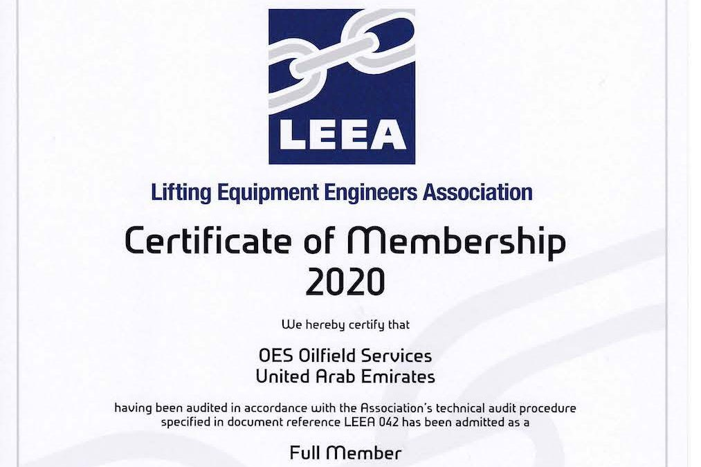 OES attains LEEA Full Membership