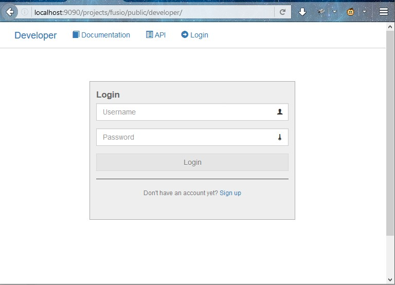 login developer