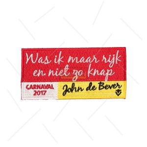 John de Bever Carnavalsembleem2017 - Was ik maar rijk en niet zo knap -Oeteldonkemblemen.nl