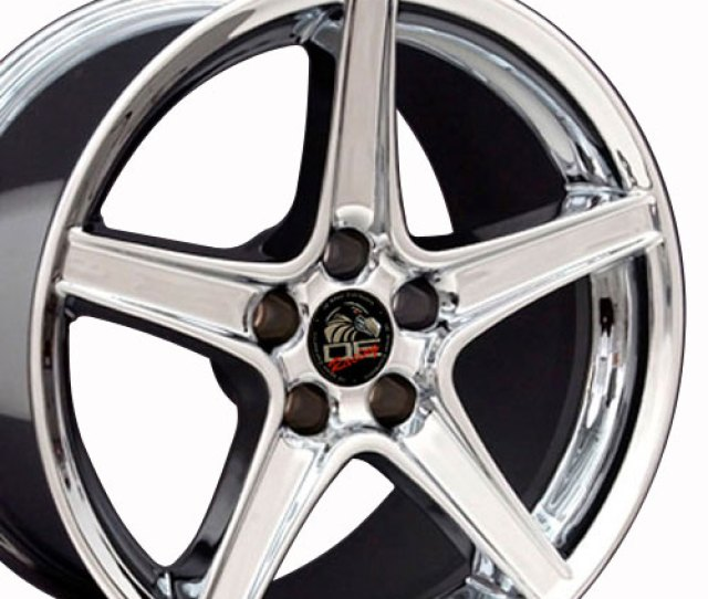 Chrome Rims Fit Ford Mustang  Staggered Set