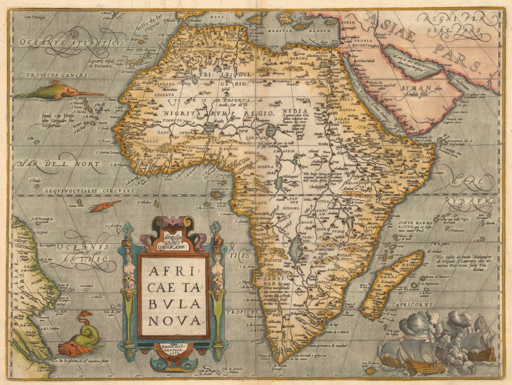 The 1584 Africa map by Ortelius Abraham,1527-1598