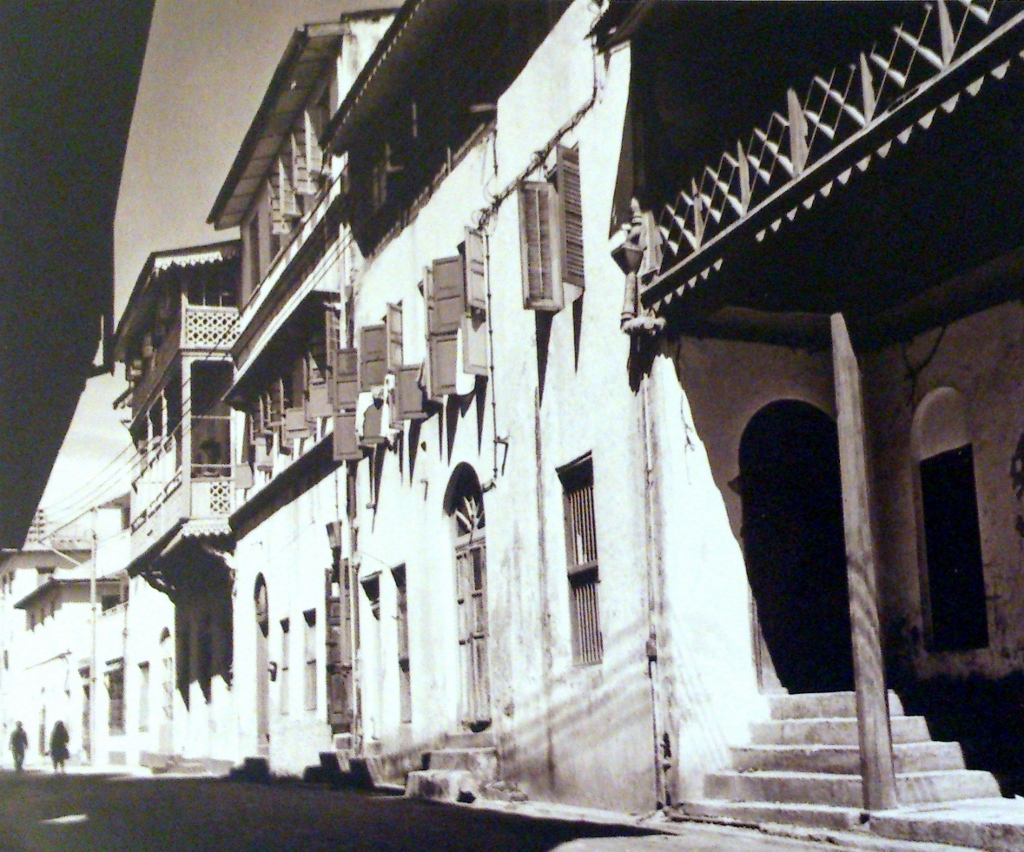 Buildings along Old Town Streets circa early 1900's and 2015