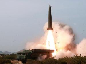 Iskander missile launch