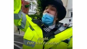 Agente di polizia pro palestina