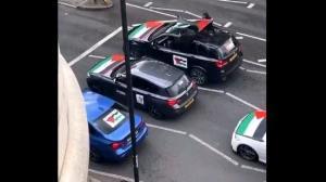 Convoglio di auto di palestinesi a Londra