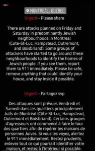minacce antiebraiche in Canada
