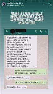 screenshot del messaggio di Michela Murgia