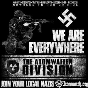 "locandina ""Atomwaffen Division"""