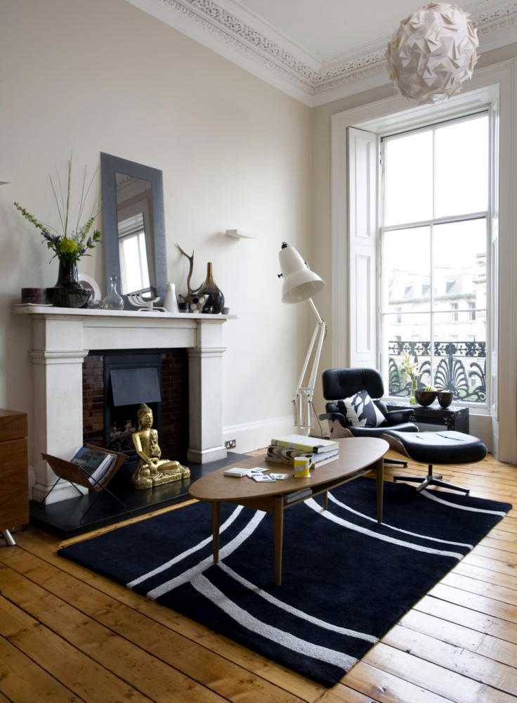 Room With Fireplace Lounge Chair Eames Interior Design