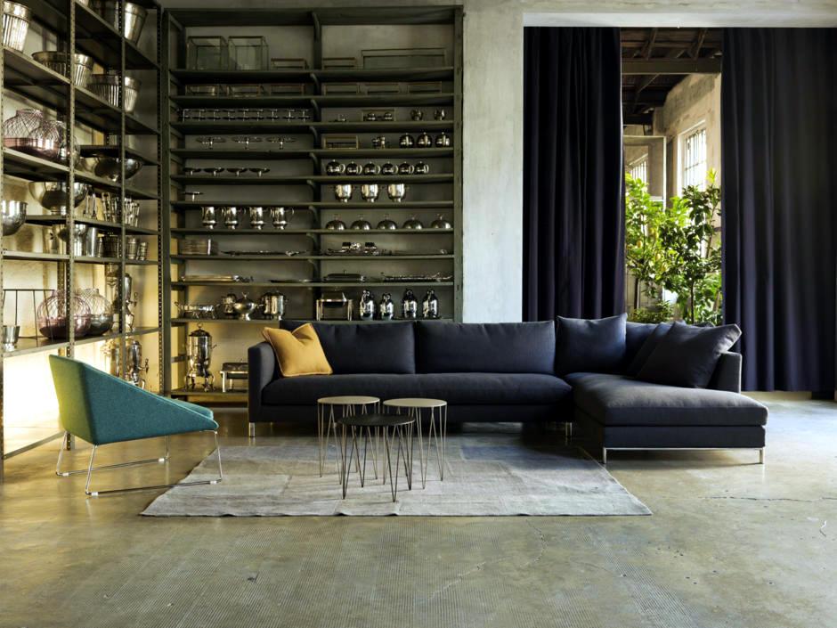 Corner Shelf With A Modern Industrial Look Interior