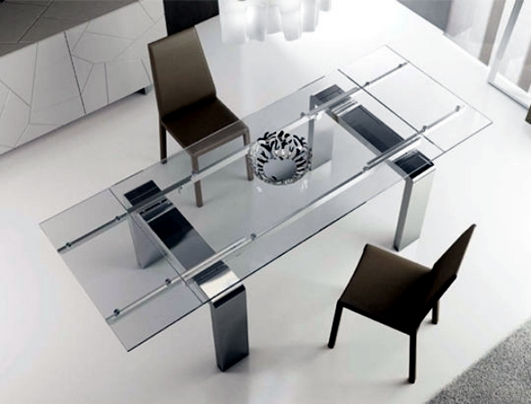 contemporary dining table made of wood