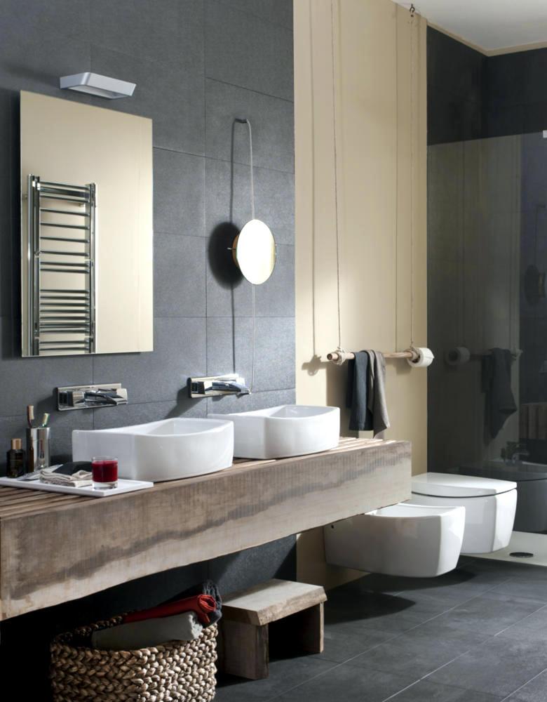 Wood And Natural Stone Bathroom Interior Design Ideas