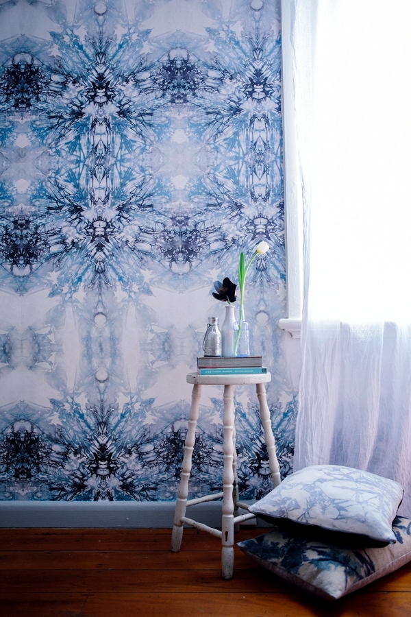 Wallpaper Design Motif Inspired Shibori Textile Art