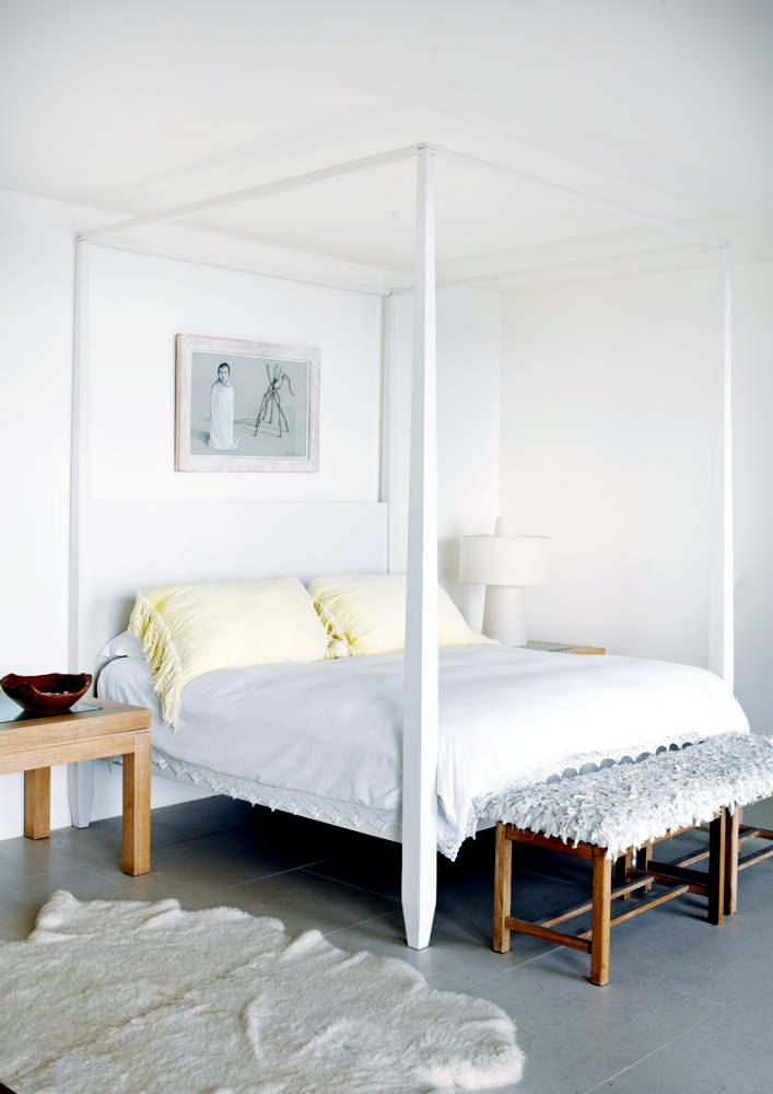 White Canopy Bed Interior Design Ideas Ofdesign