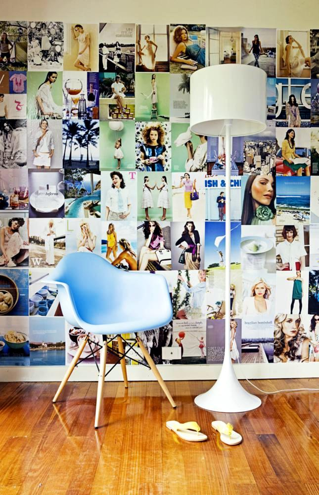 Collage Of Magazine Pages As Wall Decor Interior Design