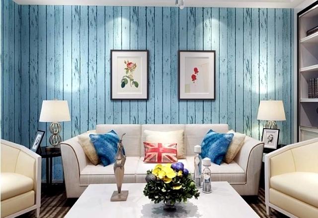 Wood Look Wallpaper Brings Up Pleasure In The Bedroom
