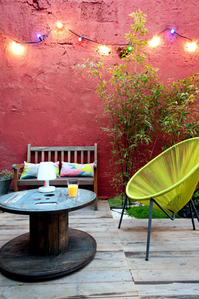 Wooden Cable Reel As A Patio Table Interior Design Ideas