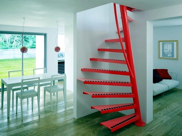 Square Spiral Staircase 1m2 With Small Dimensions