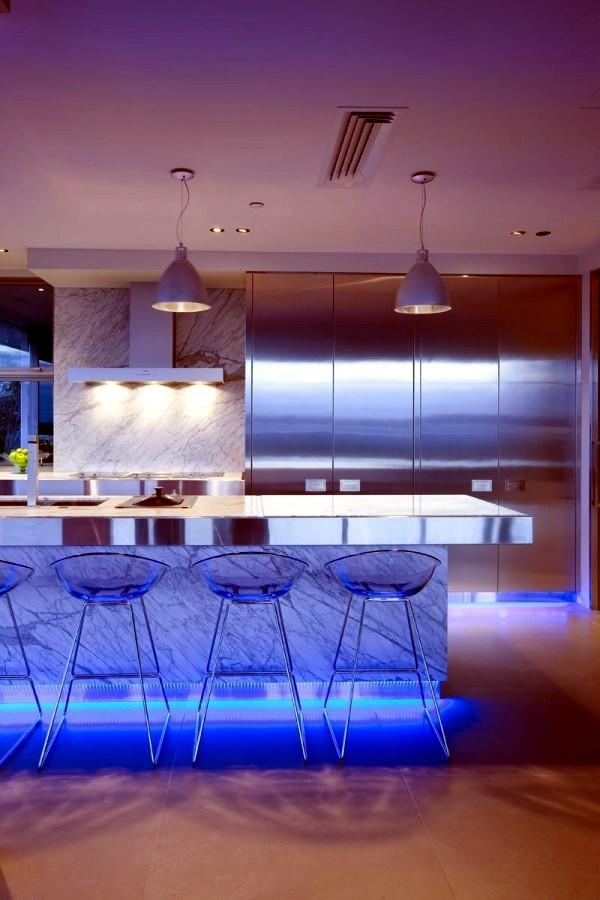 Blue Led Kitchen Lights