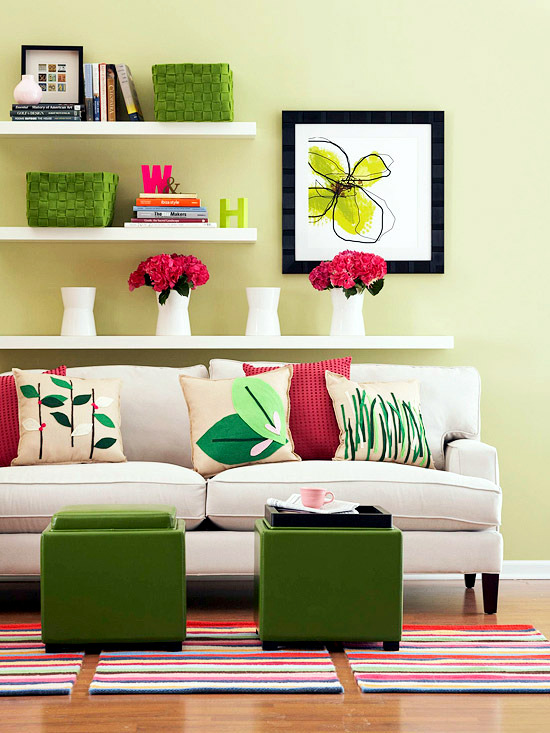 24 ideas for decorative sofa cushions