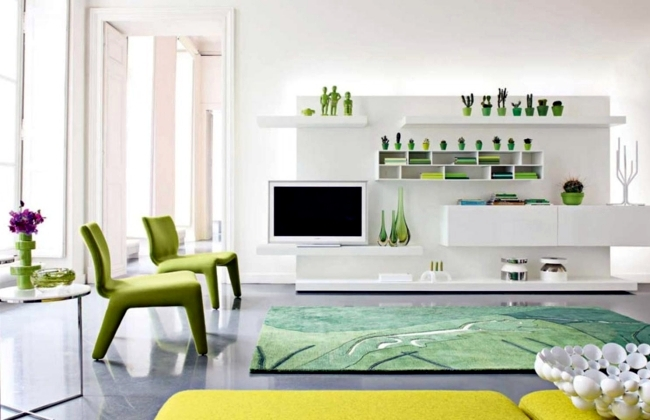 Fresh Colors In The Living Room 20 Living Ideas And Tips In Green And White Interior Design Ideas Ofdesign