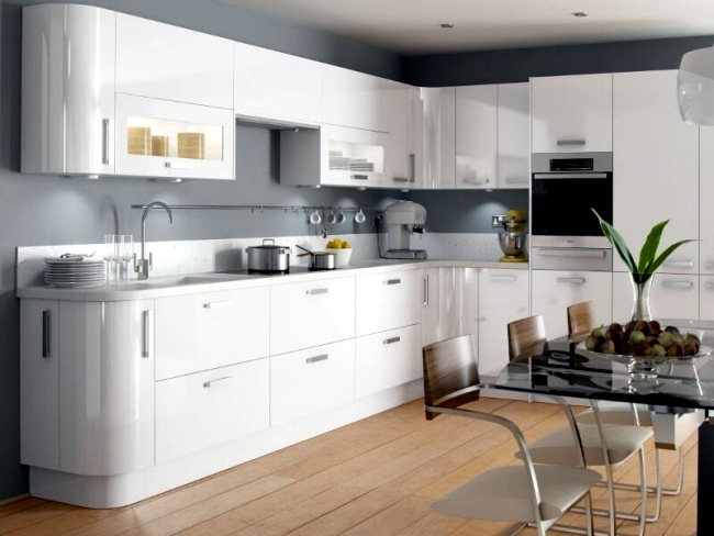 Modern High Gloss Kitchen In White 20 Dream Kitchens