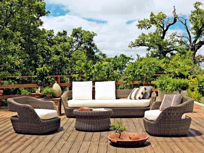 Set In A Mediterranean Style Garden Paradise Rattan Garden Furniture Interior Design Ideas