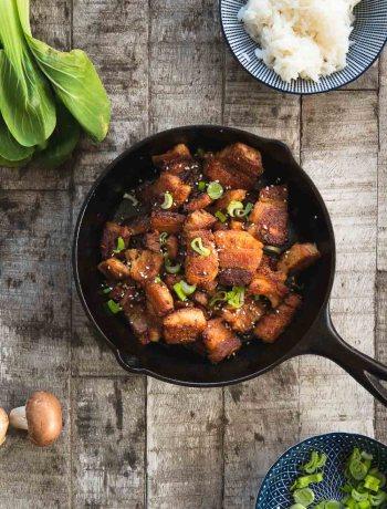 asiatischer Schweinebauch knusprig Asia Schweinebauch Foodblog Ofen offen