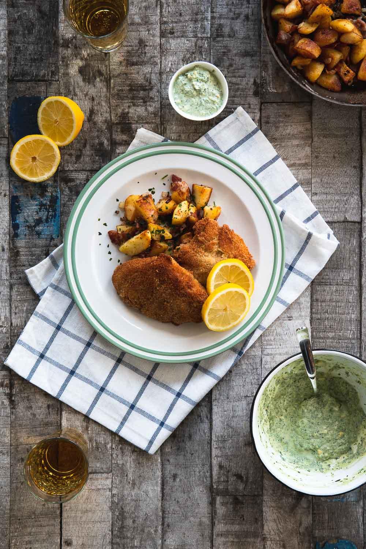 Grüne Sauce Soße Frankfurter Schnitzel Hessen hessisch grie Soß Foodblog Ofen offen