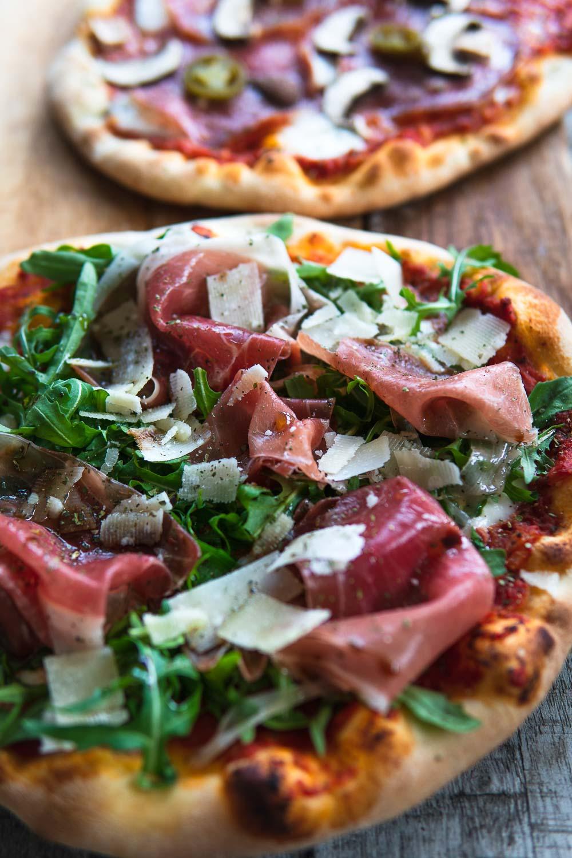 Pizzateig selber machen Pizza Rezept Trockenhefe Foodblog Ofen offen