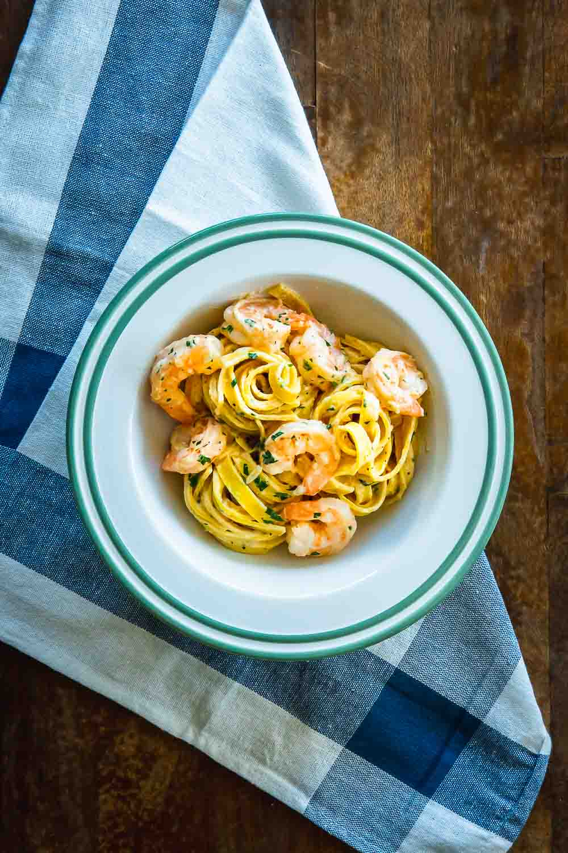 Zitronen Nudeln Garnelen Pasta Meeresfrüchte