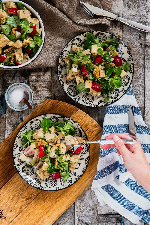 Semmelknödel Salat Semmelknödelsalat Rezept Leftover Resteverwertung Radieschen www.ofenoffen.de 5