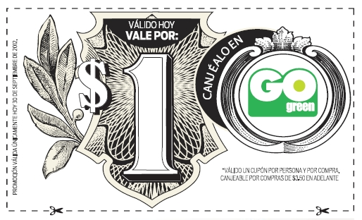 Go Green  - Cupon - 30SEP2012