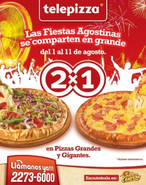 Telepizza promocion 2x1 by Pollo campero