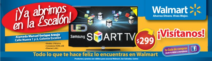 Walmart ofertas LED Samsung smart TV - 25sep13