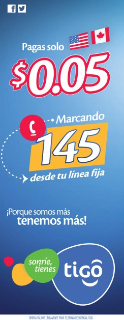 call USA and CANADA with TIGO promotion - 25sep13