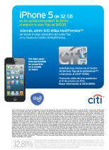 iPhone 5 de 32GB con TIGO y CITI - 19sep13