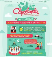 Adquiere tu ticket para CLAPSLANDIA 2013 - 17oct13