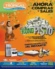Ahora Compras y salen KONG Pisto promociones Almacenes Tropigas - 24oct13