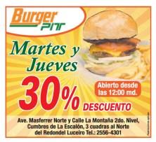 BUrger PIT martes y jueves descuentos - 24oct13