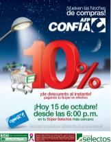 CONFIA te trae noches de compras en Super Selectos - 15oct13