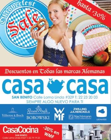 Casa Casa Cocina disocunts OktoberFest - 07oct13
